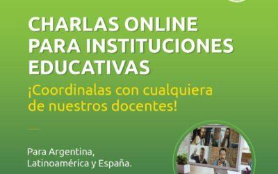 CHARLAS ONLINE para Instituciones educativas