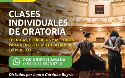 Clases INDIVIDUALES online de ORATORIA
